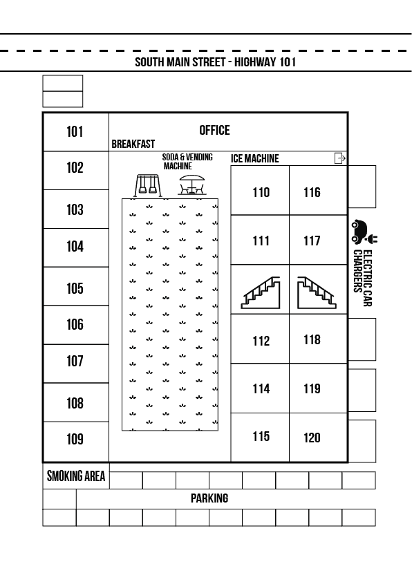 Hotel Layout For the old west inn