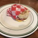 In a hurry? Try our Grab-N-Go egg sandwich served on an English muffin & cheese with your choice of sausage or bacon.